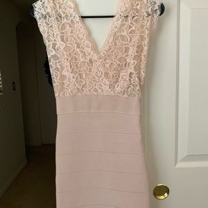 Pink Bebe Bondage Dress